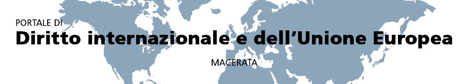 Banner portale di Diritto internazionale e dell